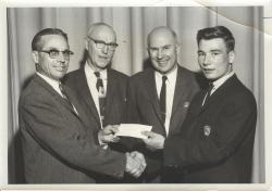 Carlton Fogg with Roland Morse, Waterville, ca. 1965