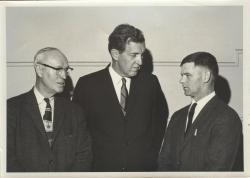 Carlton Fogg with Edmund Muskie, ca. 1967