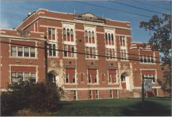 Gilman School front exterior, Waterville, 1983