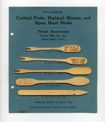 Forster Mfg. Co. samples, Strong, 1947