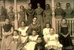 Sisters and girls, Sabbathday Lake Shaker Village, ca. 1902