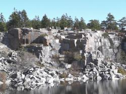 Kids above quarry, Swan's Island, 2011
