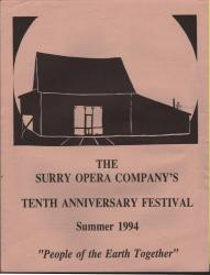 Opera Company's Tenth Anniversary festival schedule, Surry, 1994