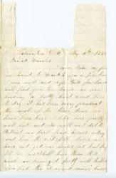 Witham letter urging Charles Cole to join army, 1862