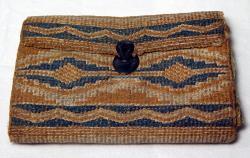 Purse with fabric twined by Molly Ockett, ca. 1785