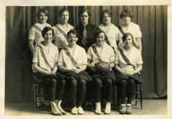 First Year basketball team, Farmington State Normal School, 1928