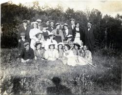 High school students at Porter Lake, Strong, ca. 1909