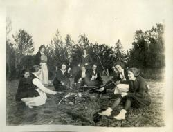 Pierpole Campfire, Farmington State Normal School, 1922
