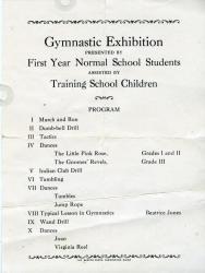 Gymnastics Program, Farmington State Normal School, 1927