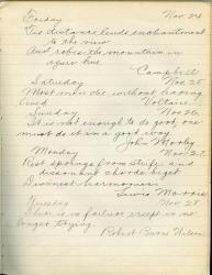Motto book page, Farmington State Normal School, 1912
