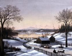 Winter scene near Portland