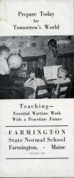 Cadet Teaching Brochure, Farmington State Normal School, ca. 1944