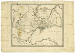 A new and correct plan of Portland, 1823