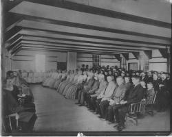 Shaker Meeting, Sabbathday Lake Shaker Village, 1885