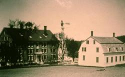 Meeting House, Dwelling House, Sabbathday Lake Shaker Village, ca. 1915