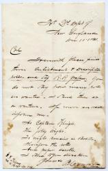 Letter on regimental forms, 1861