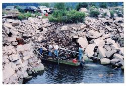 Pumping the water, Swan's Island, 2003