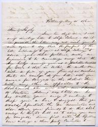 Letter urging Shepley run for Congress, Portland, 1862