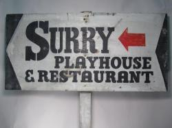 Surry Playhouse Road Sign