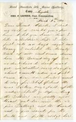 Edwin Witham letter to Charles Cole, 1862