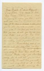 Walter Rounds writes from Camp Pitcher, VA, 1863
