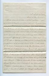 Walter Rounds Letter to his Cousin Abbie, 1864
