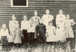 Scribner Hill School, Otisfield, about 1898
