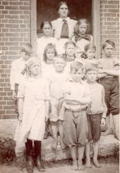 Bell Hill School, Otisfield, about 1910