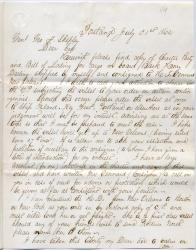 Letter seeking protection for New Orleans cargo, 1862