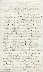 Letter from private seeking commission, New Orleans, 1861