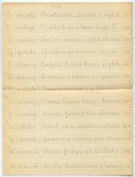 Vertical writing practice sentences, ca. 1900