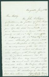 Letter seeking release of soldier from duty, Augusta, 1863