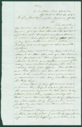 Commander G.H. Preble plea to Lincoln, Mobile, AL, 1862