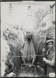 Main Street sewer construction, Biddeford, 1914 - 1915