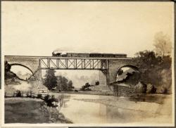 Railroad bridge pencil drawing, Ohio, ca. 1900