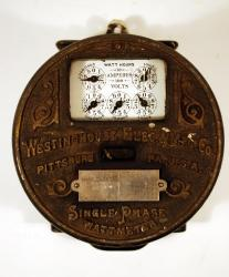 Westinghouse Round-type electric meter, 1904