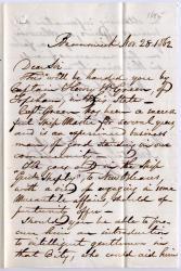 Letter introducing ship merchant to Gen. Shepley, 1862