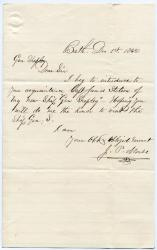 Note of introduction to Brig. Gen. Shepley, Bath, 1862
