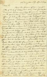 Letter recalling capture of Margaretta, Washington, D.C., 1818