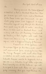 Henry Clinton letter on Penobscot River fort, 1779