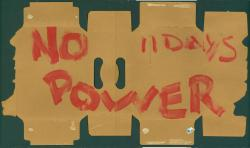 'No power' sign, 1998