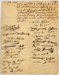 Request for help defending against Indians, 1644