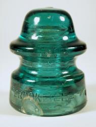 Glass electrical insulator, ca. 1880