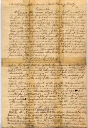 Maine Anti-Slavery Society constitution, ca. 1833