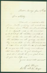 Soldier plea for discharge, Baton Rouge, 1863