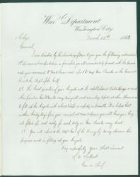 Copy of Gen. Halleck order on black troops, Washington, 1863