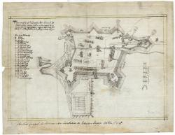 St. Georges Fort plan, Phippsburg, 1607