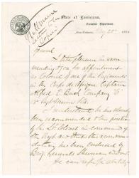 Gen. Shepley endorsement of Capt. Buck promotion, New Orleans, 1863