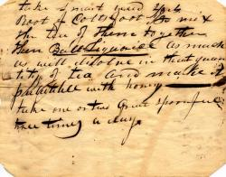 Medical recipe, Maine, ca. 1790