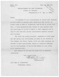 Letter concerning widow's pension